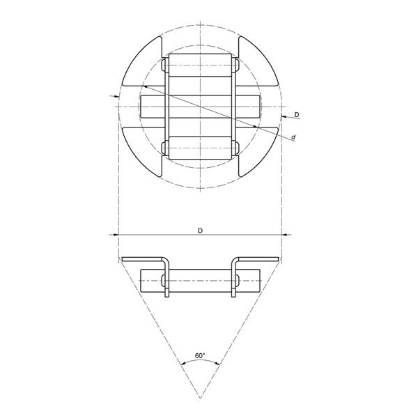 Magnetrist og skål i syrefast stål
