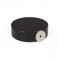 Epoksy-belagt diskmagnet Ø 70 x 20 mm, Sort