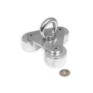 Trippel magnet med øyekrok