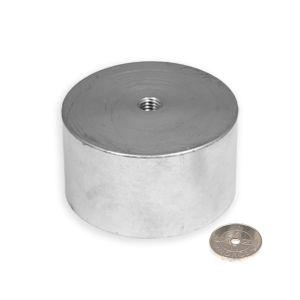 Supersterk magnet Ø 80 mm med innvendig gjenge