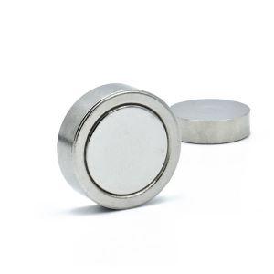 Forsterket diskmagnet Ø 20 x 6 mm