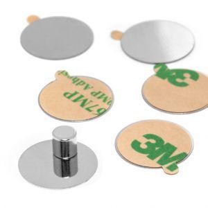 Mini magnettavler 10 stk, selvklebende skiver i stål Ø 16 mm