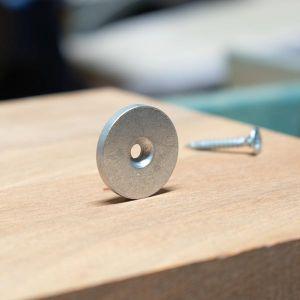 Stålskive Ø 25 x 3 mm, forsenket