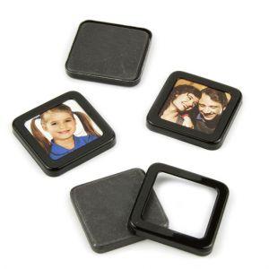 Magnetiske bilderammer 3 x 3 cm, 4 stk.