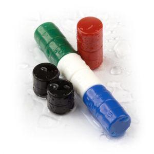 Plastbelagte diskmagneter, 10 per sett i flere farger
