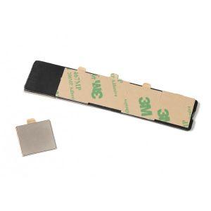 Kvadratiske selvklebende magneter 20 x 20 x 1 mm, sett av 10 stk