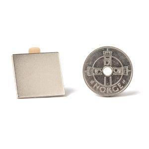 Firkantet selvklebende magnet 20 x 20 x 1 mm