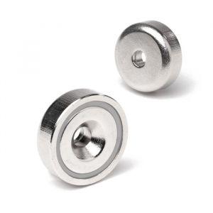 Magnet med skruehull Ø 20 x 7 mm, forsterket