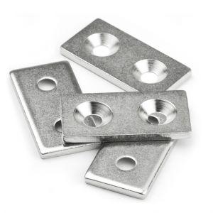 Metallplate med skruehull 40x20x3 mm