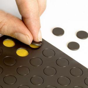 Sett med 60 magnetiske sirkler Ø 10 mm, selvklebende