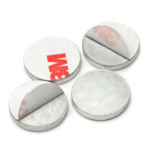 Selvklebende disk Ø 16 x 2 mm, sølv