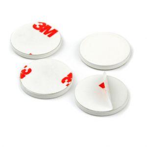 Hvit selvklebende disk Ø 20 mm