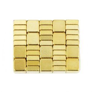 Gull firkantet magnet 5 x 5 x 2 mm