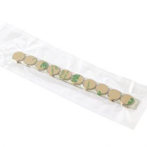 Sett av 20 stk. selvklebende magneter Ø 13 x 1 mm