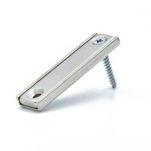 Forsterket magnet 50 mm med skruehull