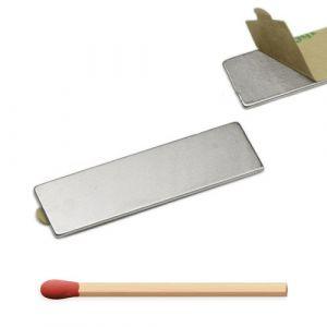 Stor selvklebende magnetplate 40 x 12 x 1 mm
