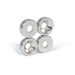 Praktisk magnet med skruehull Ø 10 x 3 mm
