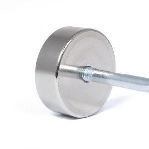 Pot magnet Ø 29 mm,  M5 innvendig gjenge