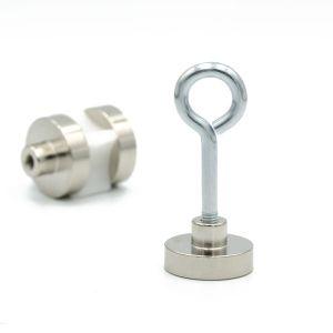 Magnet Ø 25 x 7 mm med gjenget hylse M5