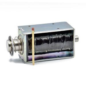 Kraftig push-pull elektromagnet 12-36V, kraft 3 kg