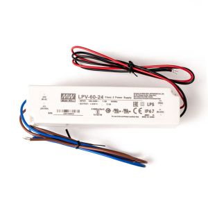Strømforsyning 24V 2,5A 60W, LED driver IP67