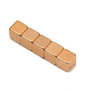 Kube magnet 7 mm, kobber