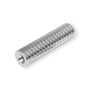 Disk magnet med festehull Ø 14 mm