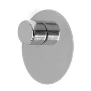 Selvklebende skive Ø 16 mm i rustfritt stål, mini magnettavle