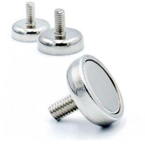 Magnet Ø 16 x 5 mm, utvendig gjenge M4
