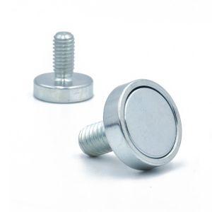 Magnet Ø 16 x 4,5 mm med gjengestang M6