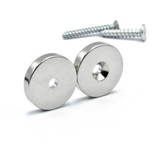 Magnet med skruehull Ø 20 x 4 mm