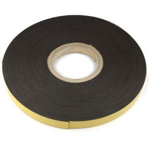 Selvklebende magnettape 20 mm bredde, rull 25 meter
