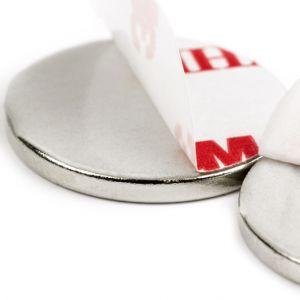 Selvklebende disk magnet Ø 20 x 2 mm