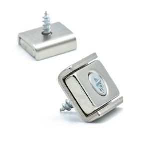 Forsterket magnet med skruehull, 13,5 x 15 mm