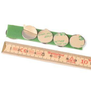Selvklebende skivemagneter Ø 20 x 1 mm, 10 stk