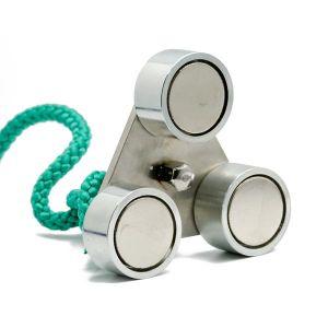 Trippel magnet med øyebolt, 3 x 90 kg