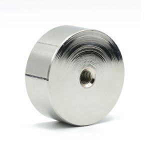 Supermagnet Ø 50 x 20 mm med innvendig gjenge