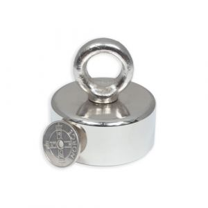 Magnet med øyebolt Ø 50 x 23 mm