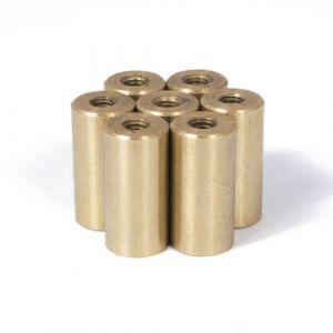 Rustfri messingbelagt magnet Ø 10 mm med M4 innvendig gjenge