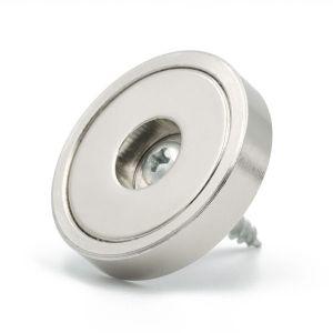 Robust disk magnet Ø 36 x 7 mm med skruehull