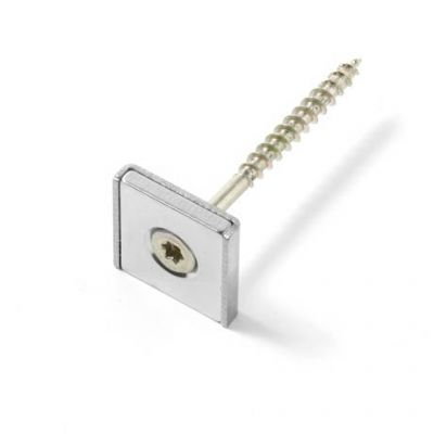 Firkantet screw-on magnet 20 x 20 x 4 mm