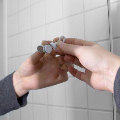 Krokmagnet Ø 16 mm hvit