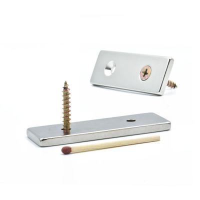 Magnetplate 60 x 20 x 4 mm, forsenkede festehull