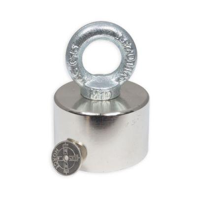 Super kraftig  magnet med øyekrok Ø 60 x 40 mm