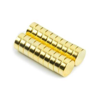 Diskmagnet Ø 6 x 2 mm, gull