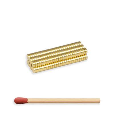 Mini neodymium disk magnet Ø 3 x 1 mm, gull