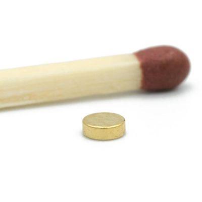 Mini neodymium diskmagnet Ø 3 x 1 mm, gull