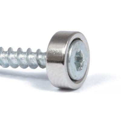 Magnet Ø 8 mm med forsenket skruehull