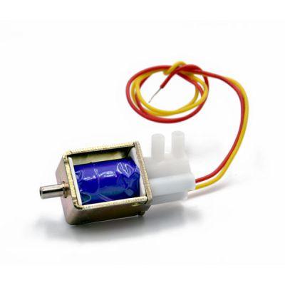 Mini magnetventil for luft og vann 12V ø 4 mm