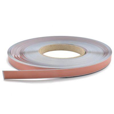 Stålbånd 12,7 mm i rull 30m, selvklebende, lysegrått